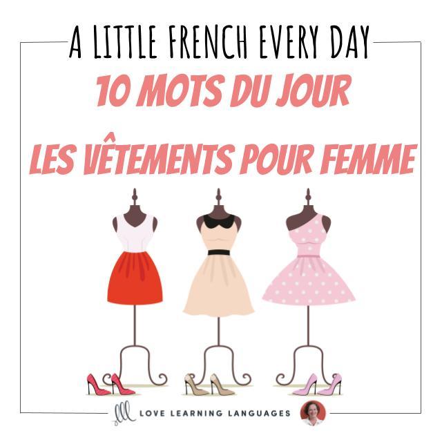 French women vocabulary list