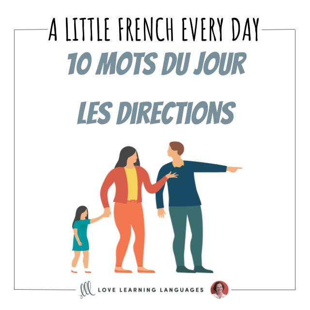 Learn French vocabulary for giving directions